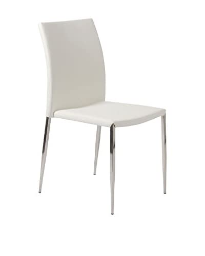 Eurostyle Diana Side Chair, White
