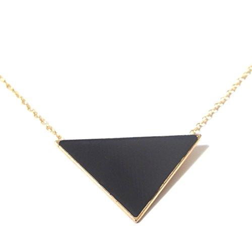 [Lotus] ネックレス ブラック トライアングル ピラミッド ペンダント / 三角形 首飾り