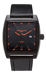 Jorg Gray Leather Black Dial Men's watch #JG5200-18