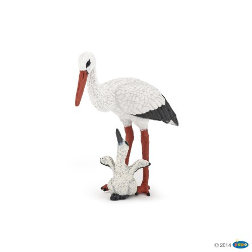Papo Stork and Baby Stork Toy Figure