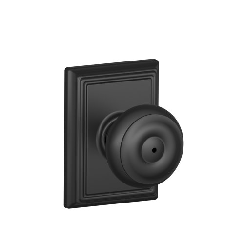 Schlage F40GEO622ADD Addison Collection Georgian Privacy Knob, Matte Black (Black Privacy Door Knob compare prices)