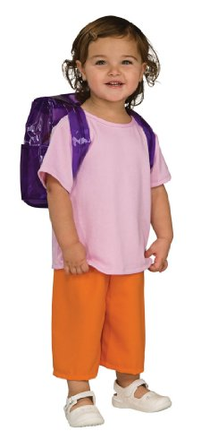 Rubies Dora The Explorer Deluxe Costume, Toddler front-1034965