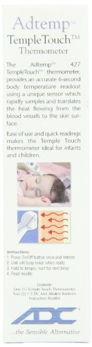 adc temple touch thermometer manual
