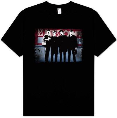 Beatles T Shirt 39 Distressed Paris 39 Black Tee Rockwares Usa