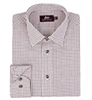 Pure Cotton Twill Mini Gingham Checked Shirt