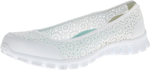 Skechers Women's Sweetpea Fashion Sneaker,White,7.5 M US