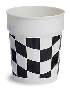 Black White Check 16 oz. Plastic Party Cup 12ct