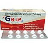 GB-12 Sublingual Vitamin B12 Deficiency 100 Tablets(Pack Of 2)
