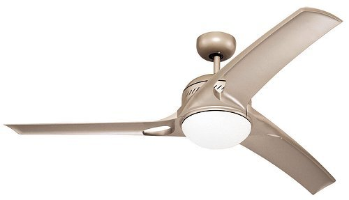 Monte Carlo 3MO52TMO-L Mach-1 52-Inch 3-Blade Ceiling Fan with Remote and Light Kit, Titanium Finish