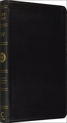Holy Bible: English Standard Version (ESV) Anglicised Black Leather Thinline edition (Esv Bibles)