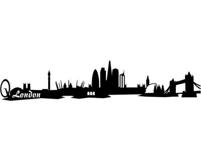 wandtattoo london skyline onlineshop mit g nstigen preisen. Black Bedroom Furniture Sets. Home Design Ideas
