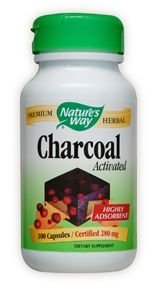 Nature's Way Charcoal Activated, 100 Capsules, 280 mg (Nature Way Activated Charcoal compare prices)