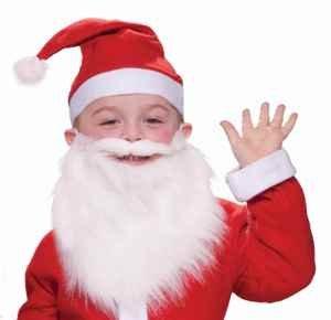 Child Santa Claus Beard & Moustache Accessory