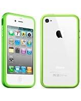 NOVAGO® Bumper pomme verte /contour de Coque iPhone 4/ 4S avec boutons métalique