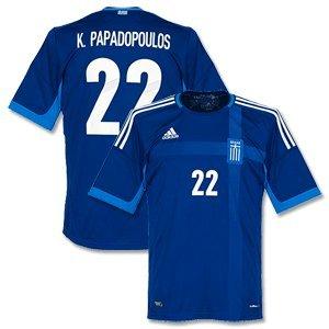 12-13 Griechenland Away Trikot + K. Papadopoulos