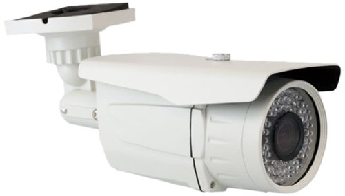 GW Security GW55WD 900TVL Bullet Outdoor Security Camera with 2.8-12 mm Varifocal Lens, 72 IR View up to 196-Feet Vandal and Water Proof (White)