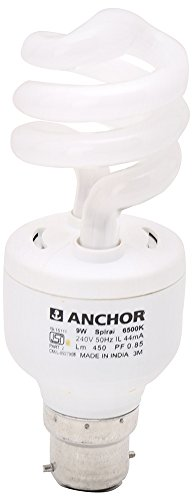 Anchor 9W Spiral CFL Bulb (White)