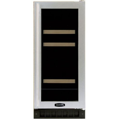 Luxury Dual-Zone 60-Can Beverage and 4-Bottle Wine Refrigerator in Stainless Steel Door: Black, Hinge: Right