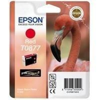 Epson-T0877-Tintenstrahlpatrone-Ultra-Chrome-Hi-Gloss-2-fr-Stylus-R1900-rot-Ref-T08774010