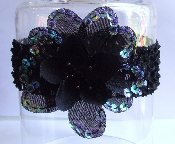 Celeste Baby Flower Headband (Black)