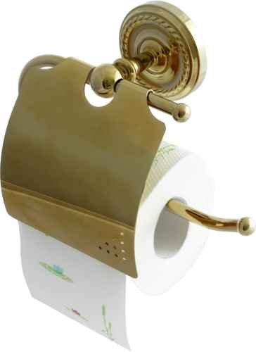 dirks-traumbad Retro Toilettenpapierhalter Klorollenhalter WC-Rollenhalter Gold 9006