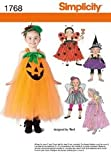 Simplicity 1768 Toddler and Child Costume Sewing Pattern, Size BB (4-5-6-7-8)