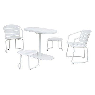 Siena Mybalconia 980958 Twin Set, Stahl, weiß Stahl/matt weiß