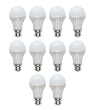6W-Virgin-Plastic-B22-LED-Bulb-(White,-Pack-Of-10)