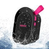 Jabees BeatBOX Mini Waterproof Portable Bluetooth Wireless Speaker with In-Built Mic and LineIn(Black-Pink)