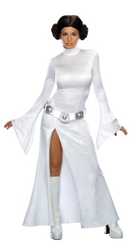 Princess Leia White Dress Md Adult Womens Costume