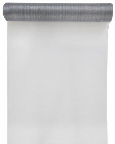 SANTEX 70232-4, Chemin de table Cristal organdi uni gris
