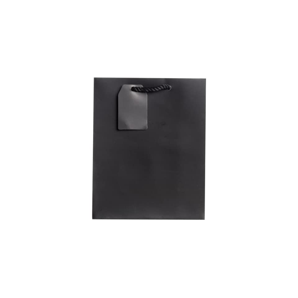 Jillson Roberts Medium Gift Bags Available in 19 Colors, Black Matte, 6 Count (MT921)