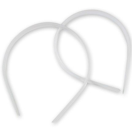 Plastic Headband White Craft - 14mm 1/2 inch (12)