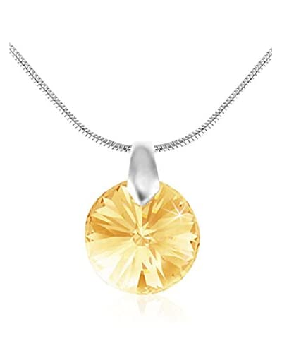 So Charm with Crystals from Swarovski Collar  Amarillo