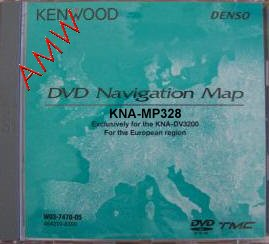 Kenwood KNA-MP418 DVD map update for Kenwood KNA-DV3100/4100 navigation systems