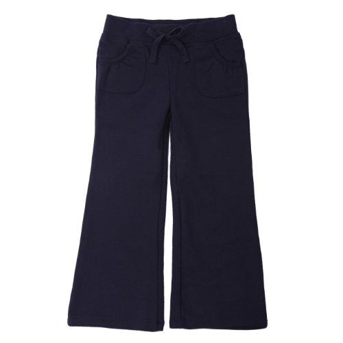 French Toast School Uniforms Girls Fleeece Pant Girls Navy 3T front-994064
