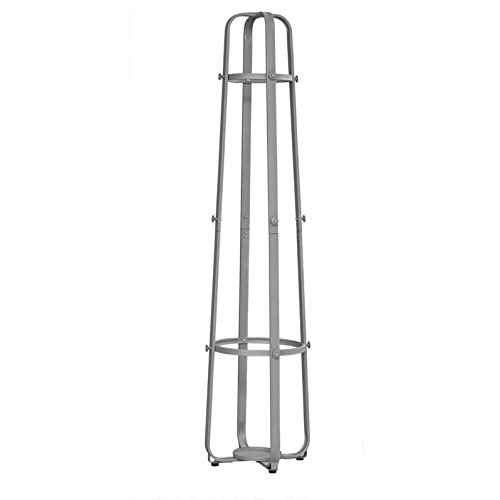 Monarch Metal Coat Rack with an Umbrella Holder, Silver, 72