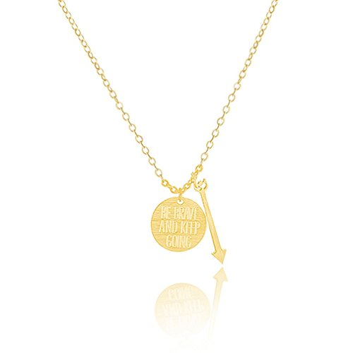 Glucky : N00132 1pcs-Positivity Positive Happiness Love Gold Tiny Dainty Necklace Disco Arrow Pendant Choker Jewelry Femme Jewellery (Positivity Necklace compare prices)