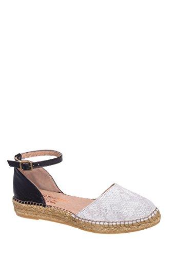 Iguana Espadrille Ankle Strap Flat Sandal