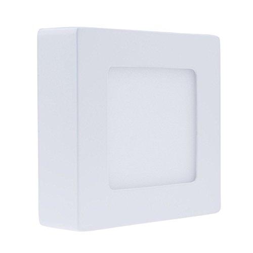 Nexium Square Led Panel Light + Led Driver Surface Mounted 6W Led Ceiling Down Light 30Pcs Smd2835 - Warm White