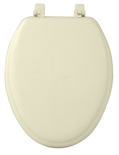Achim Home Furnishings Tovyelbn04 19-Inch Fantasia Elongated Toilet Seat, Soft Bone