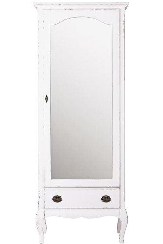 """Enza Mirrored Door Armoire - 70""""Hx28""""Wx20""""D, Gustaviano Wash"""