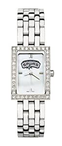 San Antonio Spurs Ladies Allure Sterling Silver Watch Bracelet by Logo Art