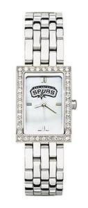 San Antonio Spurs Ladies Allure Sterling Silver Watch Bracelet by Logo Art