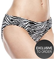 M&S Collection Zebra Print Hipster Bikini Bottoms