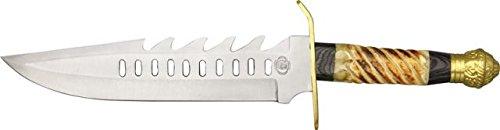 Chipaway Return Of The Undertaker Fixed Blade Knife, 10.5In, Bowie, Burnt Sawcut Bone Cw275Bsj