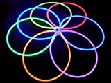 "22"" Premium Solid Color Glow Necklace - Variety Pack (Bulk Tube of 50)"