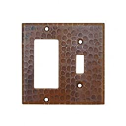Copper Combination Switchplate with 1-Hole Single Toggle Switch