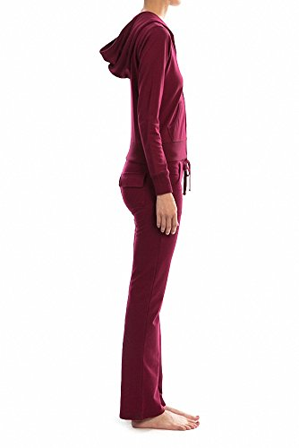 Sassy Apparel Women's Trendy Fall Winter French Terry Two Piece Track Suit Set