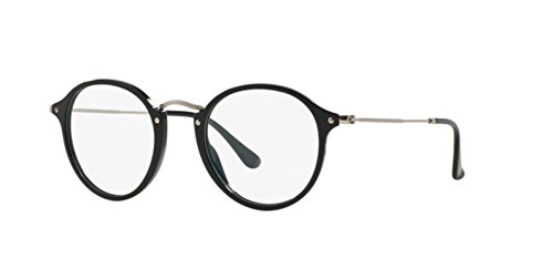 ray-ban-optical-fur-mann-rx2447v-shiny-black-gestell-aus-metall-und-kunststoff-brillen-47mm